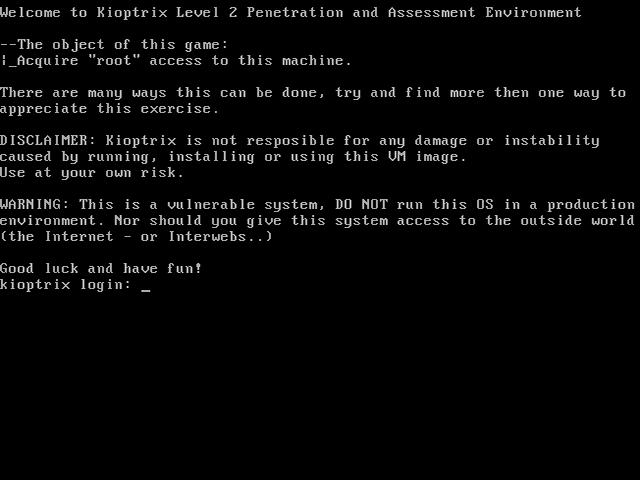 Kioptrix Level 1.1